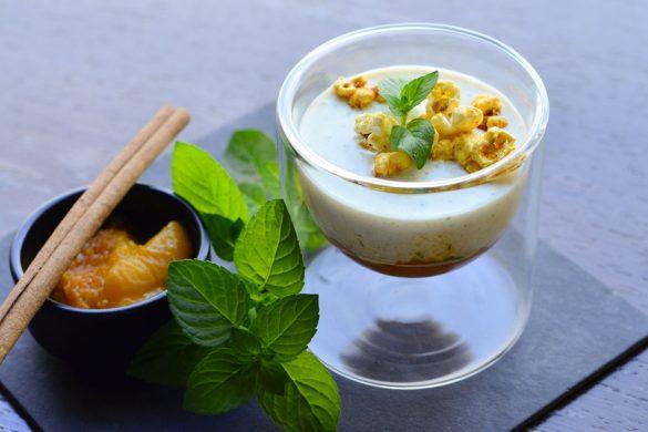 Orientalisches Joghurt mit Tomaten-Marillenmarmelade