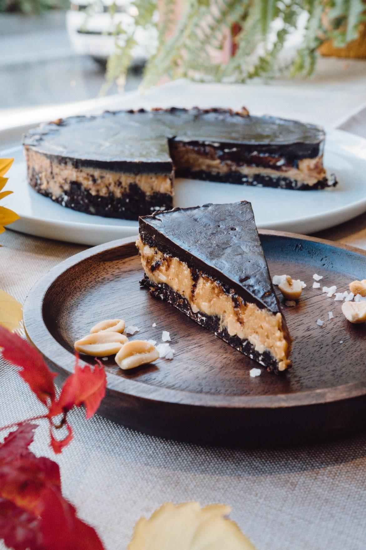 Erdnuss-Kakao-Schnitte